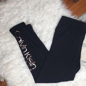 Calvin Klein Black & Rose Gold Leggings